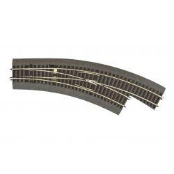Roco 42573 RocoLine gumiágyazatos kézi ívesváltó, jobbos, BWRR3/R4
