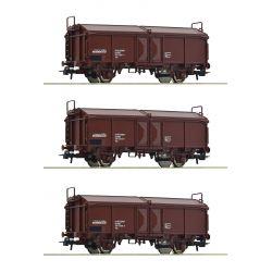 Roco 66178 Csúszótetejű kocsi készlet Tms, ÖBB IV-V