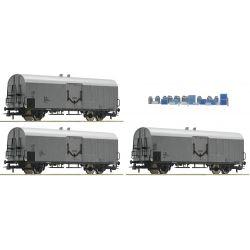 Roco 67118 Hűtőkocsi szett tejeskannákkal, ÖBB IV-V