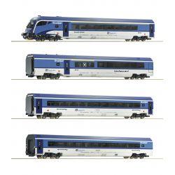 Roco 74065 Személykocsi készlet Railjet, CD VI, belső világítással, funkciódekóderrel