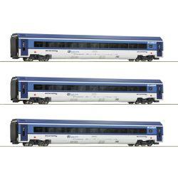 Roco 74067 Személykocsi készlet Railjet, CD VI