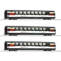 Roco 74081 Személykocsi szett 1.o., Gotthard-Panorama Express, SBB VI, 1. készlet