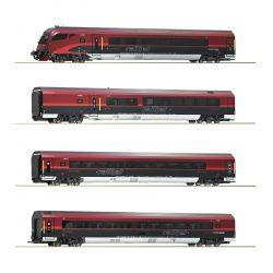 Roco 74083 Személykocsi szett vezérlőkocsival Railjet, ÖBB VI, 1. készlet