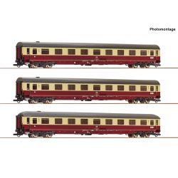 Roco 74095 Gyorsvonati kocsi szett Christoforus-Express, DB IV, 1. készlet