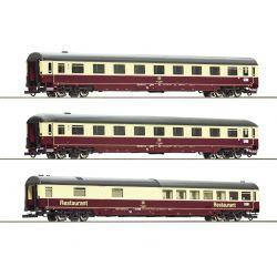 Roco 74096 Gyorsvonati kocsi szett Christoforus-Express, DB IV, 2. készlet