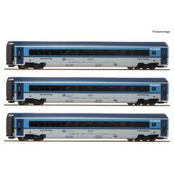 Roco 74139 Személykocsi szett Railjet Graz-Praha, CD VI