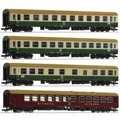 Roco 74189 Személykocsi készlet, D 375 Vindobona, DR IV-V, 2. szett