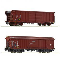 Roco 76020 Zárt teherkocsi készlet, Taems/Taehms, DB/SBB IV-V