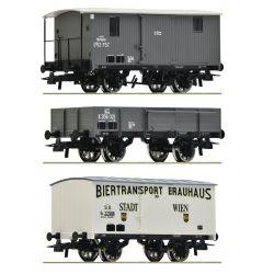 Roco 76037 Teherkocsi készlet, kkStB/BBÖ I
