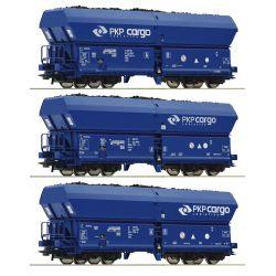 Roco 76046 Önürítős kocsi szett Falns, PKP Cargo, PKP VI