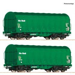 Roco 76049 Eltolható oldalfalú ponyváskocsi szett Shimmns, On Rail VI