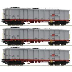 Roco 76082 Nyitott teherkocsi szett Eanos, ócskavas-rakománnyal, Rail Cargo Austria, ÖBB VI