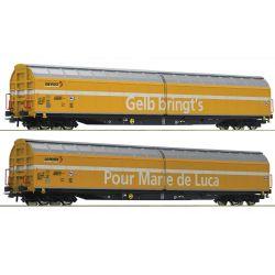 Roco 76087 Eltolható oldalfalú kocsiszett Habbiillnss, Post, SBB VI