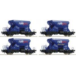 Roco 76137 Önürítős kavicsszállító kocsi szett Fccpps,  RailPro VI