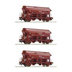Roco 76181 Szétnyílótetejű kocsi készlet Tdgs, DR IV