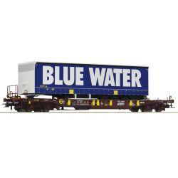 Roco 76229 Zsebeskocsi Sdgmns 33 T3, Blue Water félpótkocsival, AAE VI