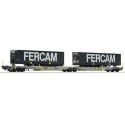Roco 76435 Iker-zsebeskocsi Sdggmrs T2000, FERCAM félpótkocsikkal, AAG VI
