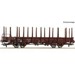 Roco 76526 Pőrekocsi rakoncákkal Kbs, DB IV