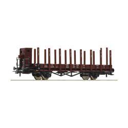 Roco 76869 Pőrekocsi fékházzal, rakoncákkal R, DRG II