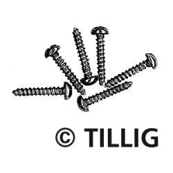 Tillig 08970 Síncsavar, rövid, 1,4 x 8 mm, 100 db