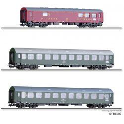 Tillig 01013 Személykocsi szett, Interzonenzug 3, Typ Y/B 70, DR IV