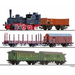 Tillig 01752 Vonat szett, BR 89.70 gőzmozdony személy- és tehervagonokkal, DR III, mozdonydekóderrel
