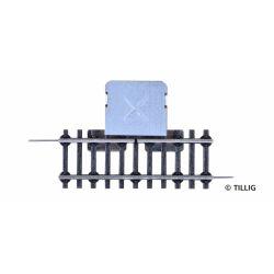 Tillig 06630 Egyenirányító sín, 57 mm, U-profil