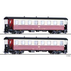 Tillig 13982 Personenwagenset der HSB, zwei Personenwagen KB, Ep. V/VI