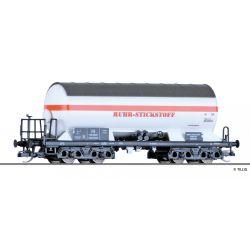 Tillig 15009 Tartálykocsi gázszállító, napvédő tetővel, 'RUHR-STICKSTOFF', DB III