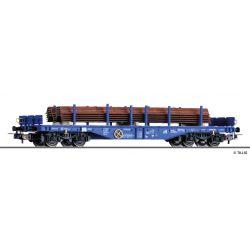 Tillig 76774 Pőrekocsi Sgmmns 4505, fémgerenda-rakománnyal, ERR (European Rail Rent GmbH) VI