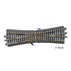 Tillig 83790 Ágyazatos dupla keresztezőváltó, állítóművel, betonaljas