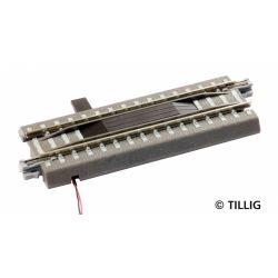 Tillig 83801 Ágyazatos elektromos kocsiszétkapcsoló sín, 83 mm
