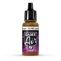 Vallejo Game Air 72740 Leather Brown, 17 ml