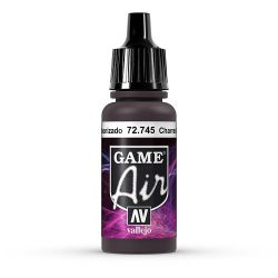 Vallejo Game Air 72745 Charred Brown, 17 ml