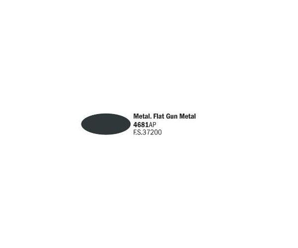 Italeri 4681AP matt Gun Metal akril makett festék