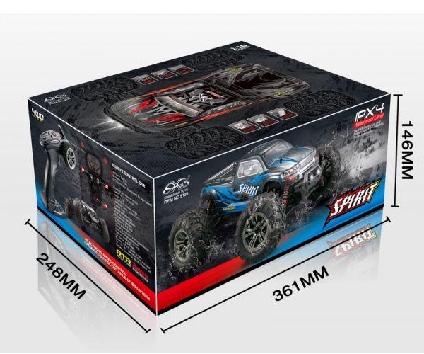 Absima MonsterTruck Spirit KÉK 1/16 RTR modellautó