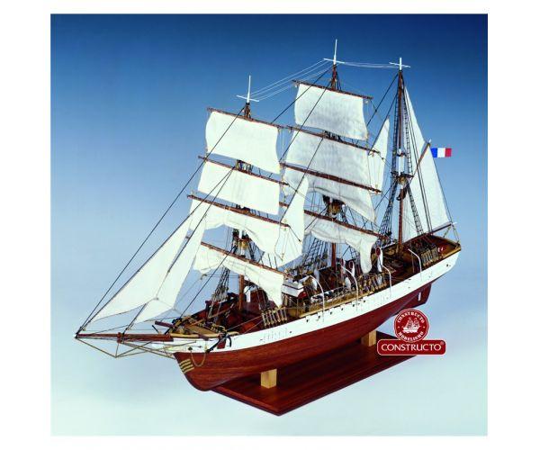 Le Pourquoi-Pas? , fa hajó makett
