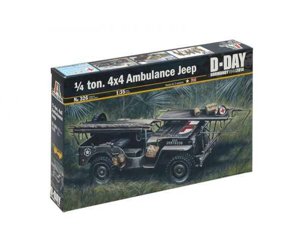 Italeri 326 1/4 TON. 4x4 AMBULANCE JEEP