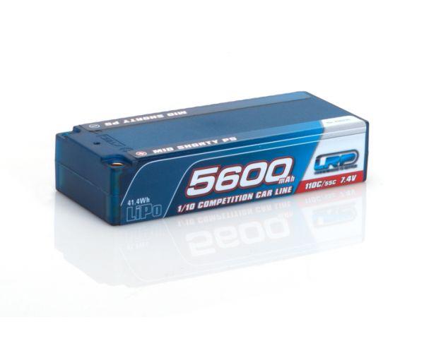 LRP 5600 mAh- TC Mid Shorty - 110/55C -7.4V LiPo akku