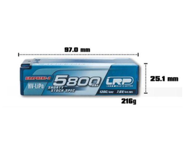 LRP akku Lipo 7.6V 5800mAh Graphene-2 P5-HV Shorty