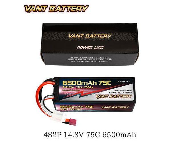 Keménytokos 6500mAh 14.8V 75C LiPo akkumulátor
