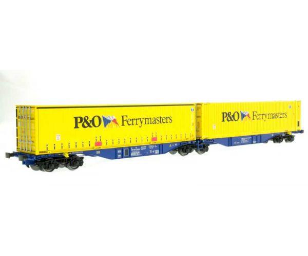 ACME 40287 Konténerszállító ikerkocsi Sggmrss, 90, P&O Ferrymasters V-VI, 1. pályaszám