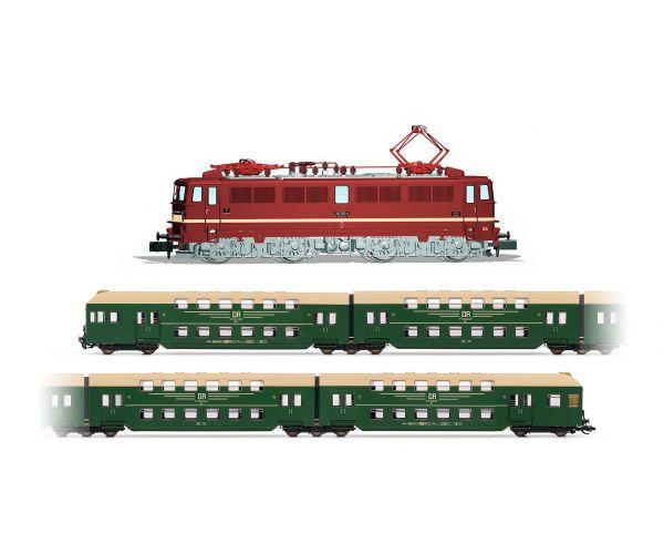 Arnold HN2380 Villanymozdony BR 242, 4 double-decker Személykocsi, DC Digital