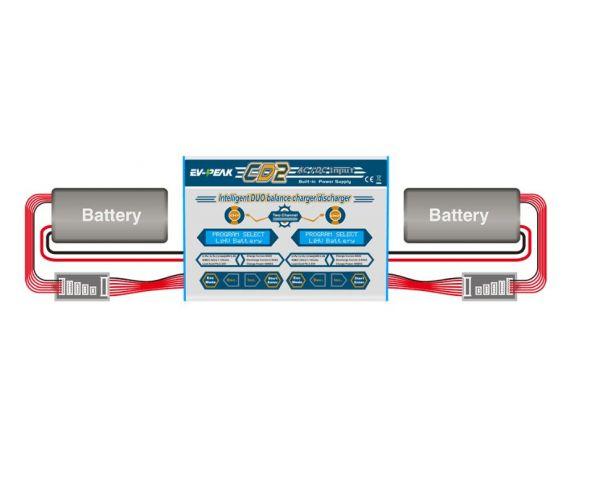 EV-PEAK CD2 Multifunkciós, duál balanszeres, 50W-os töltő akkukhoz