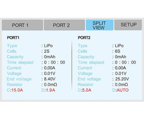 EV-PEAK AD3+ profi érintőkpernyős, kétcsatornás akkutöltő,150W, 15A