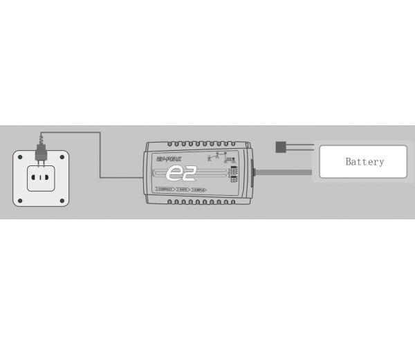 EV-Peak e2 25W automata LiPo töltő