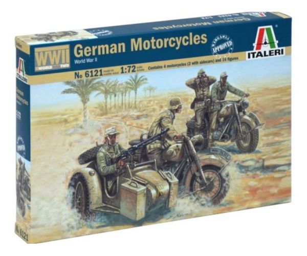 Italeri 6121 Német motoros katonák