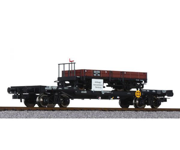 Liliput 235788 Nehézteher-szállító kocsi H0e tehervagon-rakománnyal (Jh/s 1116, St.L.B.) ÖBB IV-V