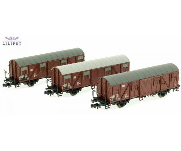 Liliput 260147 Zárt teherkocsi szett Gbs 245, DB IV