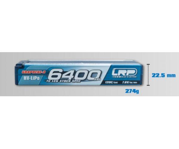 LRP akku LiPo 7.6V 6400mAh Graphene-2 TC LCG P5 HV